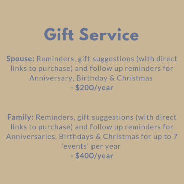 Gift Service $